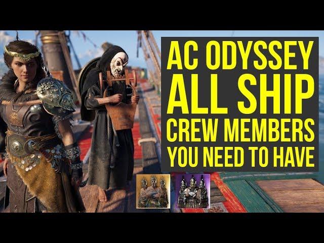 Assassin's Creed Odyssey Ship Customization - SHIP CREW You Need To Have (AC Odyssey Ship Crew)