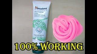 Peel off FACE MASK Slime - 1 Ingredient No glue borax