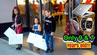 KIDS BUY EVERYTHING IN THE APPLE STORE?! | Familia Diamond
