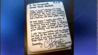 Yum! Man writes resignation letter in cake icing