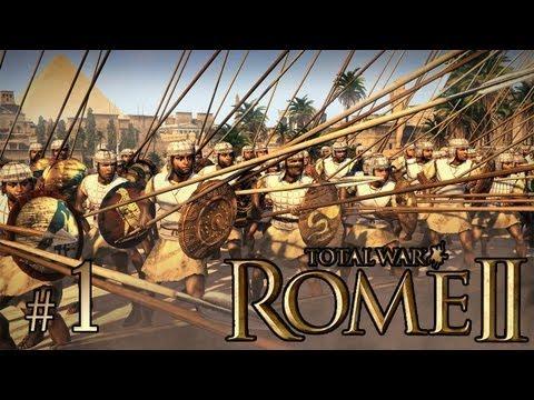 Total War: Rome II (Египет, легендарная сложность) #1 - Галактические слоники!