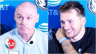 """Luka Doncic breaks down the Dallas Mavericks' win over the Milwaukee Bucks, sharing his relationship with his teammates and the comradery they bring to the court. (1:38) Coach Rick Carlisle then talks about Doncic's court vision, comparing the 21-year-old's play to Larry Bird and Jason Kidd. Carlisle then details how his players have come so far since practicing in individual workouts back in Dallas. (4:36) Lastly, Carlisle admits that he """"applauded"""" when he saw Doncic's between-the-legs pass and says that he continues to be impressed by the Dallas star, adding that he'd """"pay money to watch him play.""""   ✔️Subscribe to ESPN+ https://plus.espn.com/ ✔️ Get the ESPN App: http://www.espn.com/espn/apps/espn ✔️Subscribe to ESPN on YouTube: http://es.pn/SUBSCRIBEtoYOUTUBE ✔️ Subscribe to NBA on ESPN on YouTube: http://bit.ly/SUBSCRIBEtoNBAonESPN ✔️ Watch ESPN on YouTube TV: http://es.pn/YouTubeTV  ESPN on Social Media: ► Follow on Twitter: http://www.twitter.com/espn ► Like on Facebook: http://www.facebook.com/espn ► Follow on Instagram: http://www.instagram.com/espn  Visit ESPN on YouTube to get up-to-the-minute sports news coverage, scores, highlights and commentary for NFL, NHL, MLB, NBA, College Football, NCAA Basketball, soccer and more.   More on ESPN.com: https://www.espn.com"""