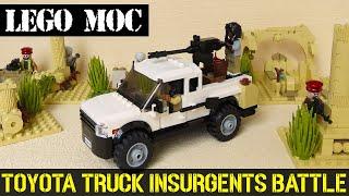 MOC ** LEGO TOYOTA TRUCK INSURGENTS BATTLE ** TECHNICAL ** Build Instructions