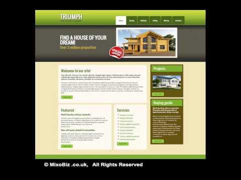 Real Estate related web design samples ( MixoBiz )