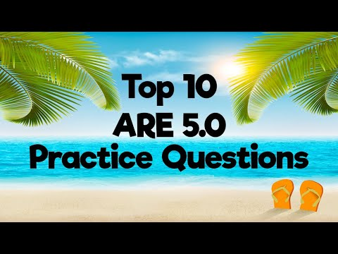 Top 10 ARE 5.0 Practice Questions - YouTube