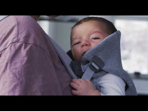 Babybjorn Рюкзак для новорожденных MINI Cotton Jersey Светло-серый