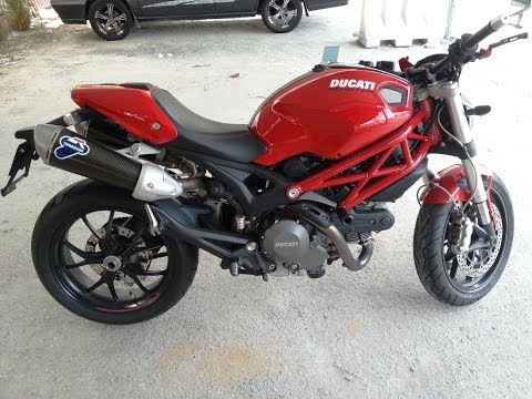 Ducati Monster 796 With Termignoni Carbon & Rizoma Walkaround Exhaust Sound