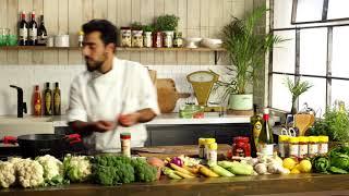 מתכון לרביולי פתוח עם מוצרלה, חצילים ופלפלים קלויים