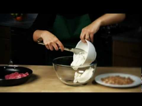 Video Rhubarb crumble ice cream recipe from Waitrose