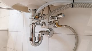 Waschmaschine und Wäschetrockner im Bad anschliessen.Einfach und Schnell