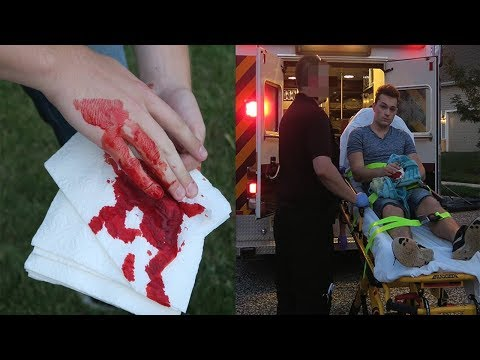 I CUT MY FINGER OFF! REAL LIFE FRUIT NINJA GONE WRONG! (DON'T TRY THIS)