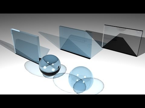 Maya tutorial : Creating various glass types