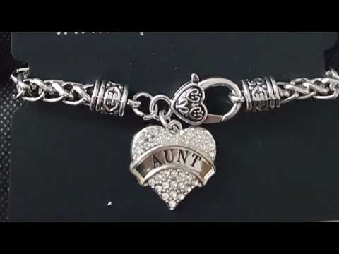 Inspired Silver Review InspiredSilver.com pave heart clasp braided charm bracelet