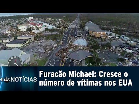 Os estragos causados pelo furacão Michael nos EUA