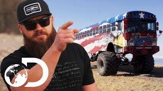 School Bus Gets Huge Monster Truck Wheels! | Diesel Brothers