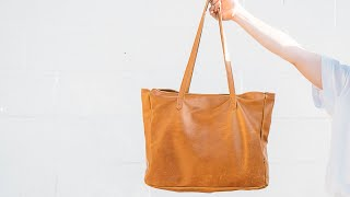 Sewing A Simple Womens Leather Tote Bag