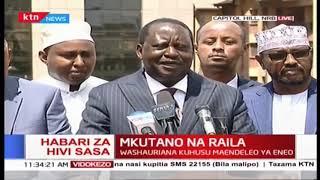 Raila Odinga akutana na viongozi wa Garissa ofisini kwake