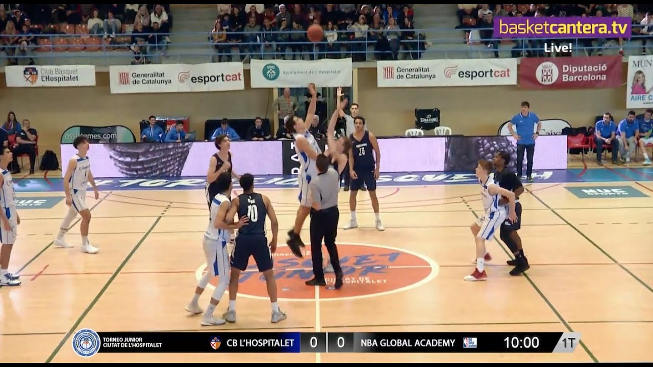 U18M - CB L´HOSPITALET vs NBA GLOBAL ACADEMY.- Torneo Junior L´Hospitalet 2020 (BasketCantera.TV)