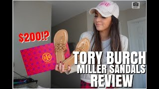TORY BURCH MILLER SANDAL REVIEW/UNBOXING