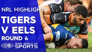 NRL Highlights: Wests Tigers V Parramatta Eels -  Round 4