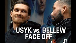USYK vs. BELLEW. FACE OFF after press conference. Усик-  Белью. Глаза в глаза.