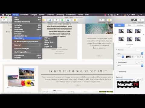 Pages als Layoutprogramm - Vorlagen verwenden