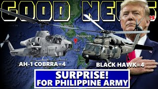 GOOD NEWS 4 COBRA HELICOPTER AND 4 BLACK HAWK ARE COMING TO PHILIPPINE ARMY FROM UNITED STATE WOW