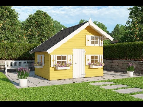 Caseta infantil de Madera Tom 3,8 m2 Palmako