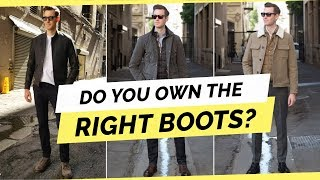 3 Boot Styles Every Man Should Own For Fall/Winter 2018