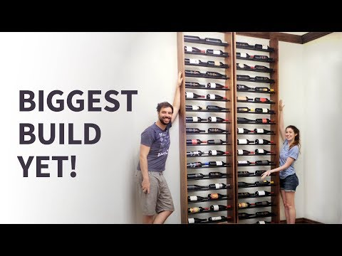 Easy 10-ft Tall Wine Rack With Limited Tools!