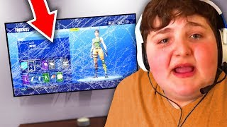 KID punches TV after mom turns off wifi.. (fortnite)