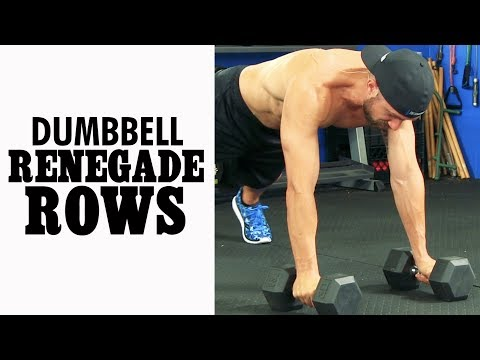 Renegade Rows with Dumbbell (Commando Rows for Back & Abs)