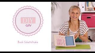 DIY Basteln - Buch-Schatztruhe