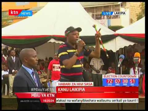 Maina Njenga stands to pass sentiments in Laikipia during KANU campaigns