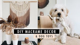 DIY MACRAME Home Decor (wall Hanging, Dip Dye + Dog Toys) | XO, MaCenna