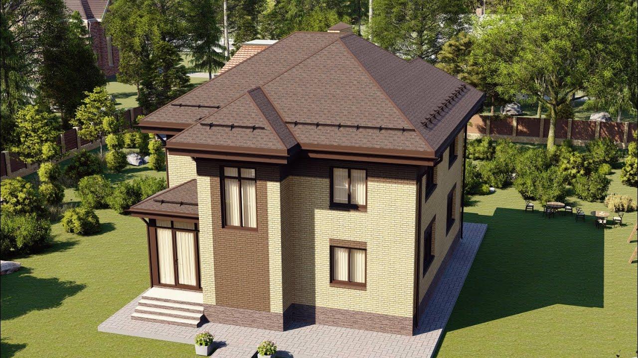 Проект загородного дома из газобетона 146 м2