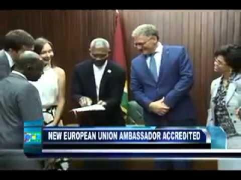 EU Ambassador Jernej Videtič's Accreditation to Guyana