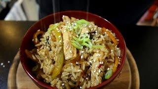 מתכון למוקפץ עם חזה עוף, ירקות ואורז