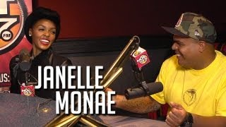 """""""The Electric Lady"""" Janelle Monae sings with Angie Martinez & DJ Enuff"""