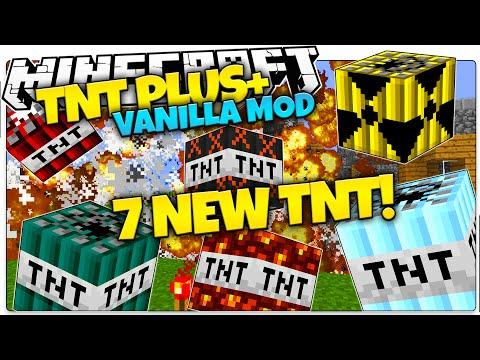 Minecraft | TNT+ Mod | Nukes, Age Bombs, Frozen TNT | Only One Command (Minecraft Vanilla Mods)