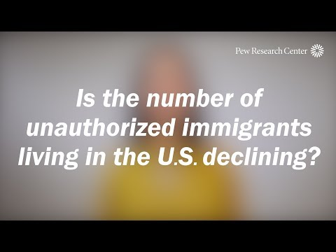 Is the number of unauthorized immigrants living in the U.S. declining?
