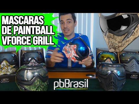 Mascara Vforce GRILL Review - Paintball Brasil