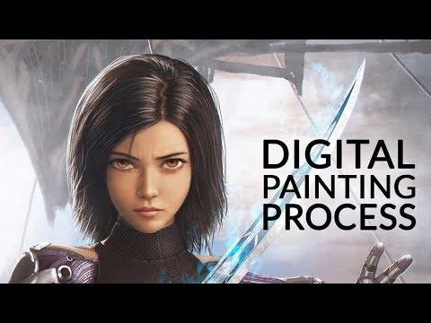 Alita : Battle Angel (2019) | Digital Painting Process