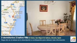 preview picture of video '3 dormitorios 2 baños Villa se Alquila en El Galan, San Miguel De Salinas, Alicante, Spain'