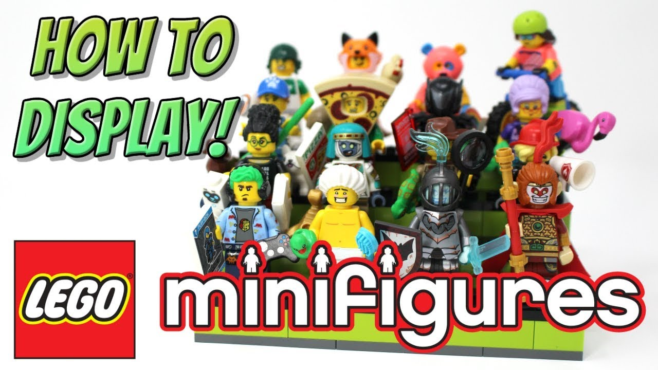 How to Display LEGO Collectable Minifigures - Minifig Staircase MOC Showcase