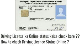 check dl application status