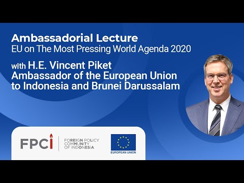 FPCI Ambassadorial Lecture with H.E. Vincent Piket (9 July 2020)