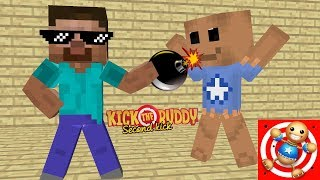 Monster School - KICK THE BUDDY GAME CHALLENGE : Minecraft Animation