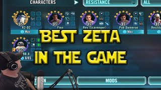 Star Wars: Galaxy Of Heroes - Best Zeta In Game - Resistance Team A Must For Territory Battles