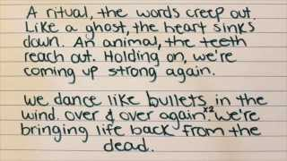 Angels & Airwaves- Bullets In The Wind (Written Lyrics)